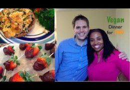 Romantic Vegan Dinner for Two – Valentines Day Meal